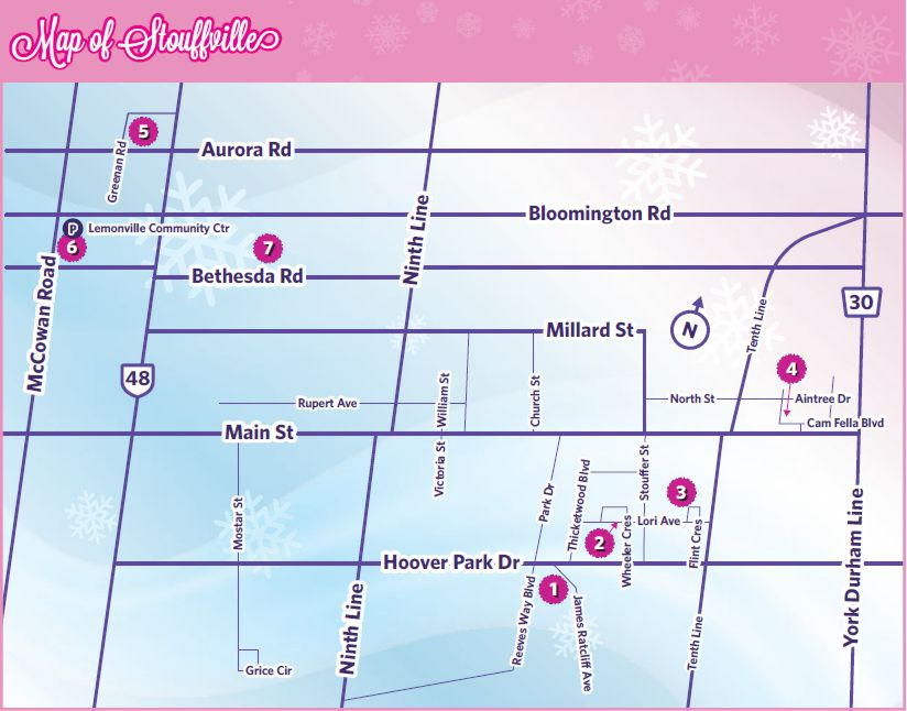 Stouffville Home For Christmas Tour Map 2016